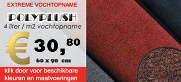 Droogloopmatten, PolyPlush, Mattenshop.nl